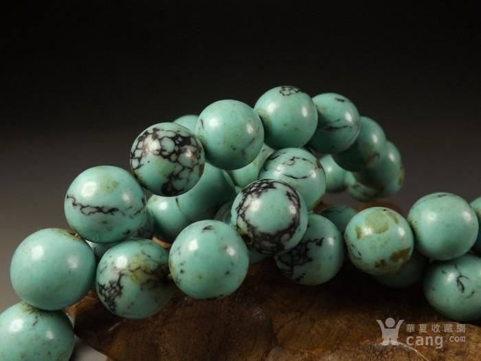 高瓷松绿松石大圆珠一串