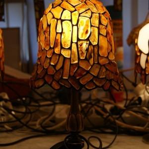 MARIACKA49 喇叭花形琥珀台灯