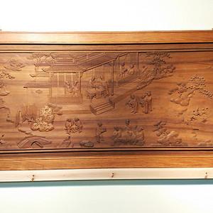 金丝楠木雕(海南黄花梨框)