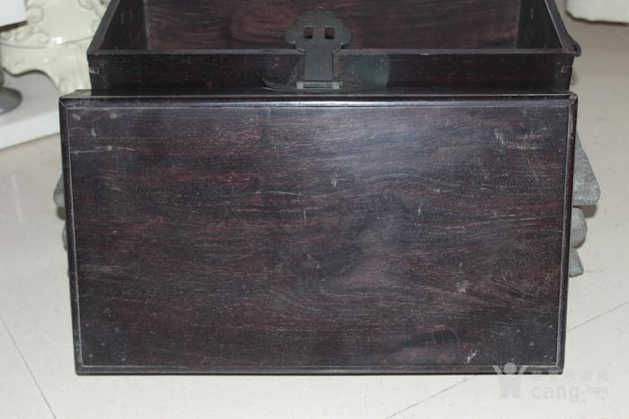 清代酸枝木箱图4