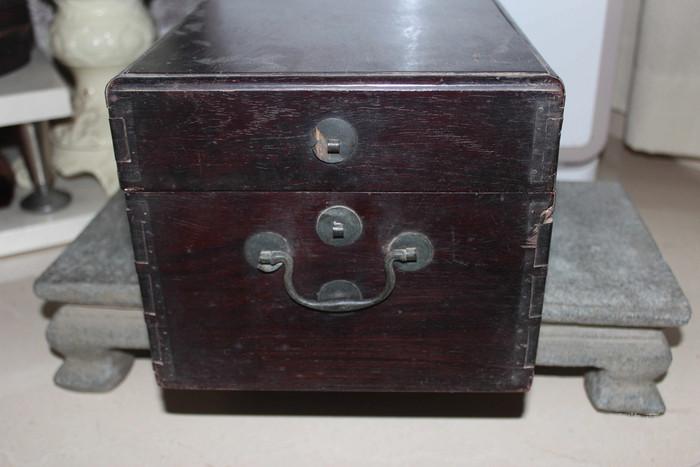 清代酸枝木箱图8