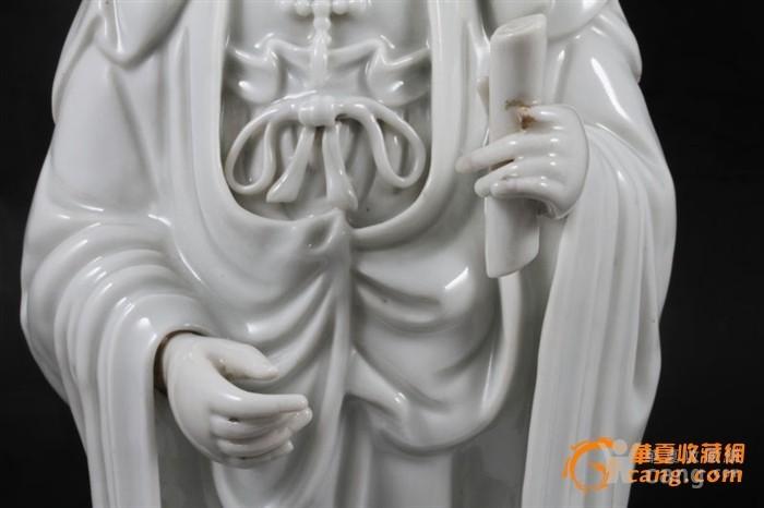馆藏级 明末/清初 青白瓷观音 34厘米图7