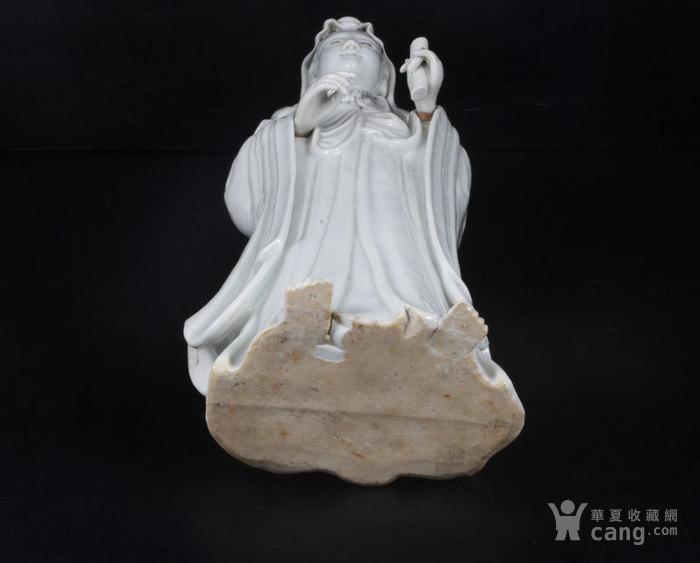 馆藏级 明末/清初 青白瓷观音 34厘米图10