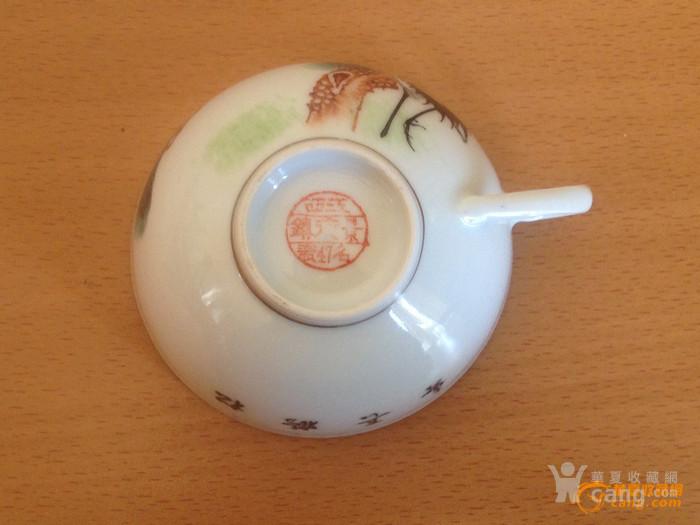 100357 建国初景德镇粉彩诗文茶具一套 11件图7