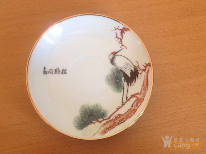 100357 建国初景德镇粉彩诗文茶具一套 11件图8