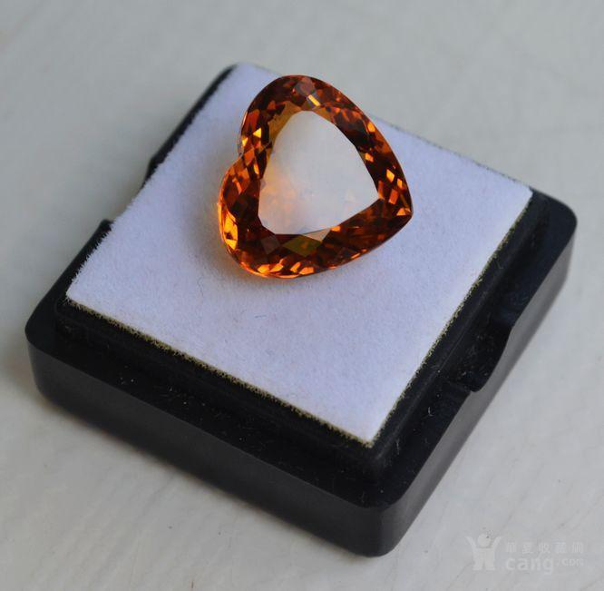 黄水晶 8.02克拉纯天然无加热巴西黄水晶 旺财石图1
