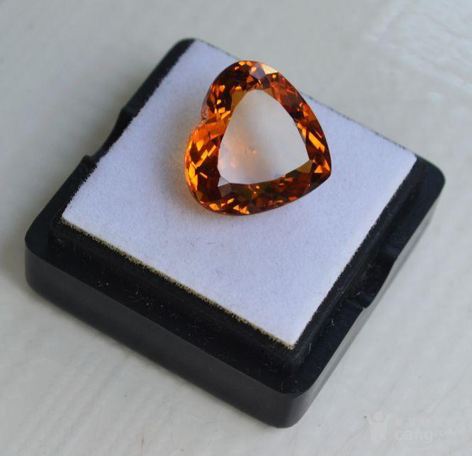 黄水晶 8.02克拉纯天然无加热巴西黄水晶 旺财石图2