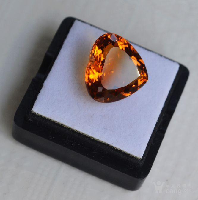 黄水晶 8.02克拉纯天然无加热巴西黄水晶 旺财石图3