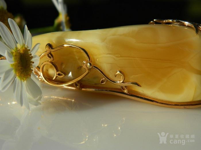 印第安河回流*精品,纯银24k鎏金白花蜡大吊坠,高端配制项链图9