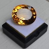 黄水晶 23.84克拉纯天然无加热巴西黄水晶 旺财石