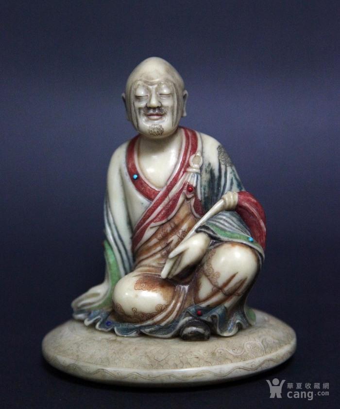 清代寿山石罗汉像图1