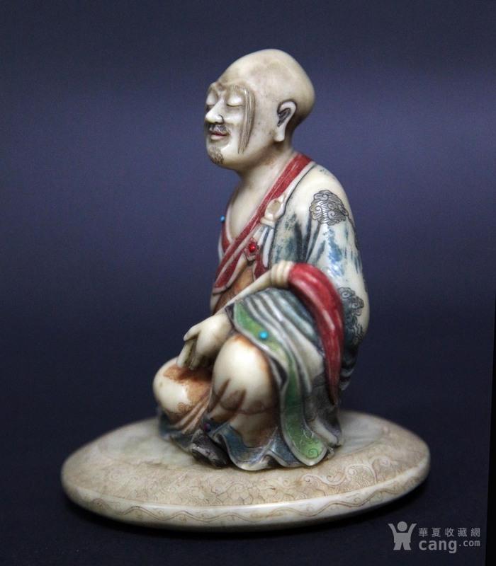 清代寿山石罗汉像图3