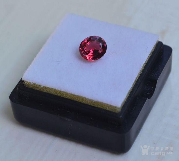 粉红色碧玺 莫桑比克纯天然粉红色碧玺0.89克拉图1