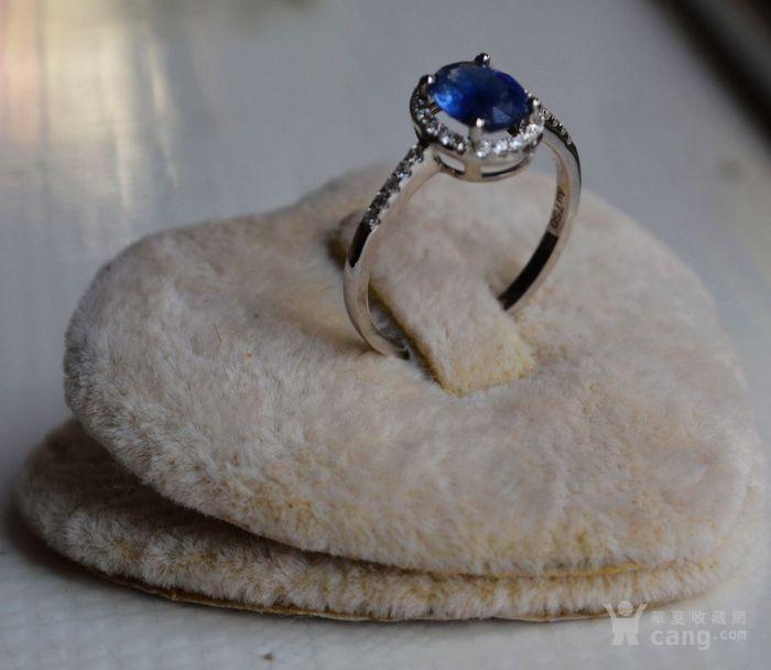 蓝宝石钻戒 天然斯里兰卡蓝宝石镶南非钻石18K金女款钻戒图4
