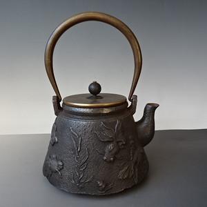 杂项收藏品清代雕花铁壶