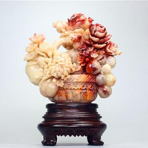 贵妃美誉 之 寿山芙蓉石《花开富贵》摆件