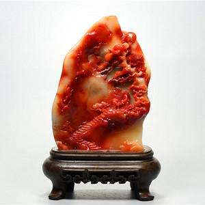 精美芙蓉石作品《步步高升》摆件