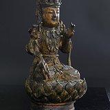 狂欢节活动 明代罕见大体量精美铜观音鎏金造像