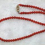 天然红珊瑚珠项链