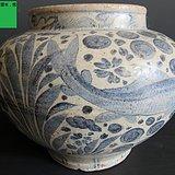 青花海藻鱼纹罐