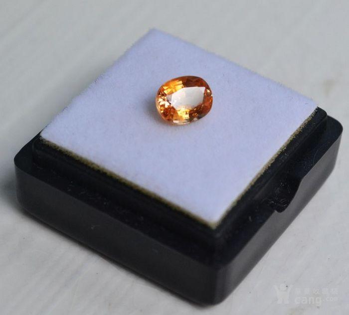 纯黄色蓝宝石 斯里兰卡纯天然椭圆型1.13克拉蓝宝石图2