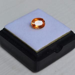 纯黄色蓝宝石 斯里兰卡纯天然椭圆型1.13克拉蓝宝石