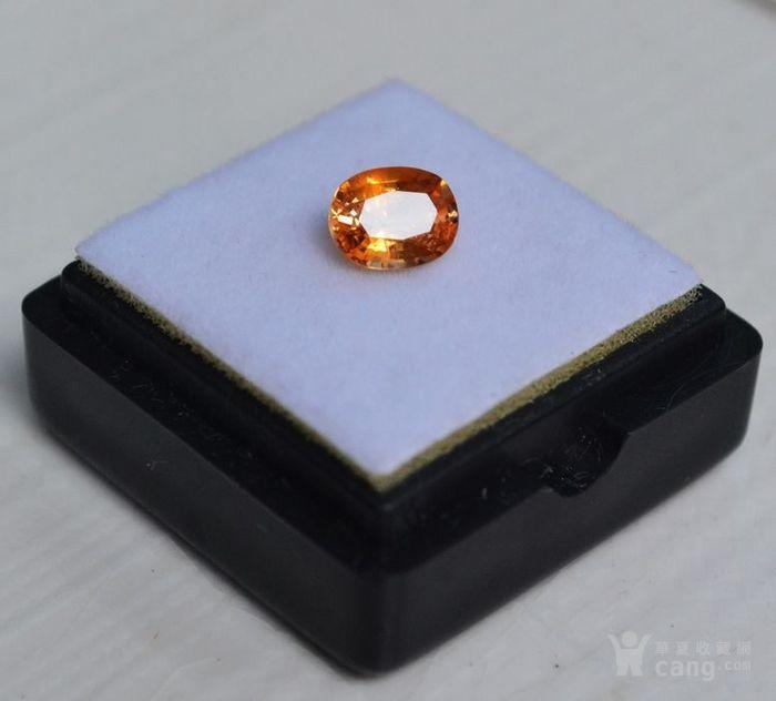 纯黄色蓝宝石 斯里兰卡纯天然椭圆型1.13克拉蓝宝石图1