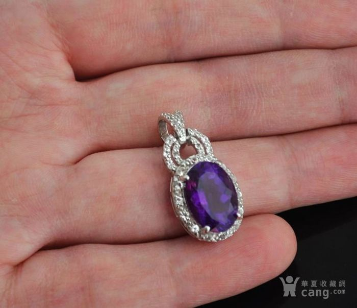紫水晶托帕石吊坠 天然紫水晶托帕石925银镀14K金吊坠图2