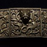 【罕】罕见清代精美铜制龙纹带扣 出自德国拍卖行