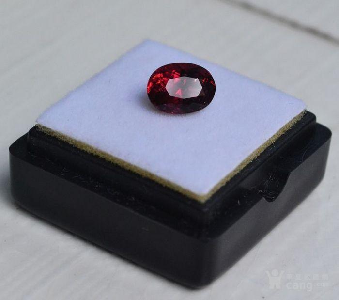 紫红色碧玺 尼日利亚纯天然紫红色碧玺1.65克拉图1