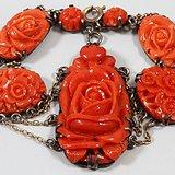 精品 MOMO 花开富贵 红珊瑚 手链。不议价。
