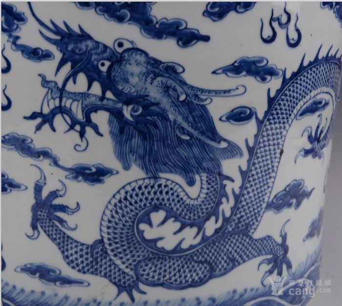 青花双龙戏珠大香炉图3