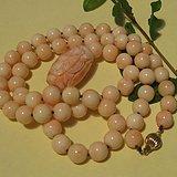 珊瑚虫-140.3克深海珊瑚项链手链套装