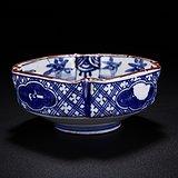 清青花山水纹方型碗