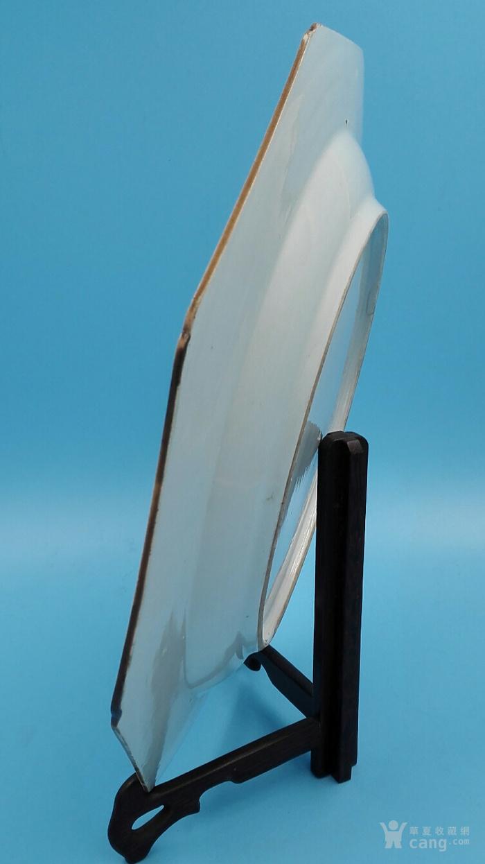 乾隆荷叶牡丹纹八角青花大盘(35cm,海外回流)图11