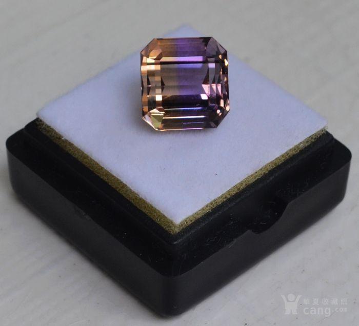 紫黄晶 5.95克拉纯天然无加热南美玻利维亚紫黄晶图2
