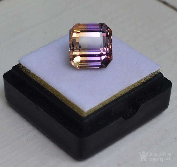 紫黄晶 5.95克拉纯天然无加热南美玻利维亚紫黄晶图1