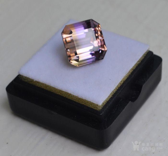 紫黄晶 5.95克拉纯天然无加热南美玻利维亚紫黄晶图3
