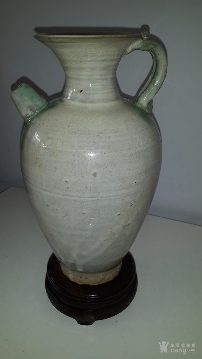 北齐。白釉绿彩执壶图4