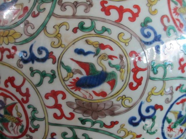 朝鲜收的五彩仙鹤纹大罐图3