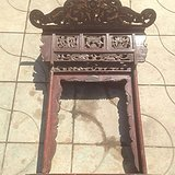 古董收藏  售清代老佛龛雕工精致   货真价实