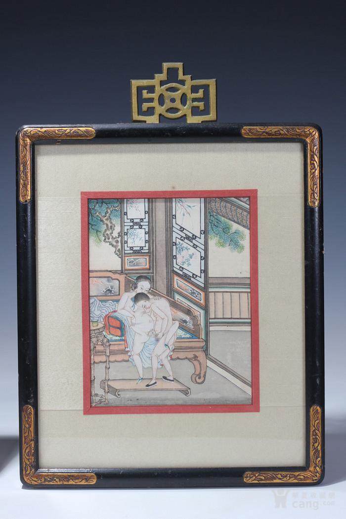 清  绢本画春宫图一组-图2