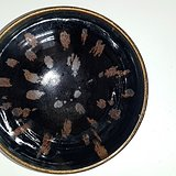 黑釉铁锈花碗