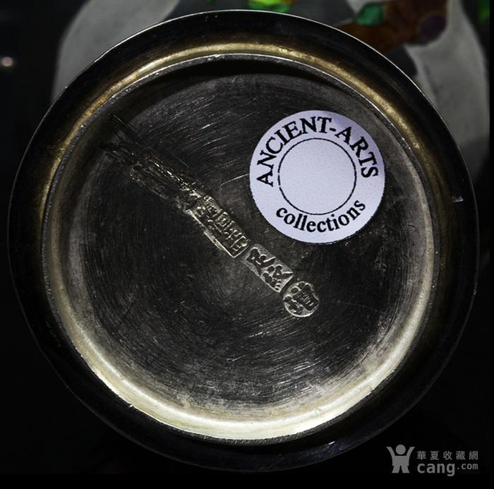 清代 银胎 珐琅 精品 赏瓶 一只。图12