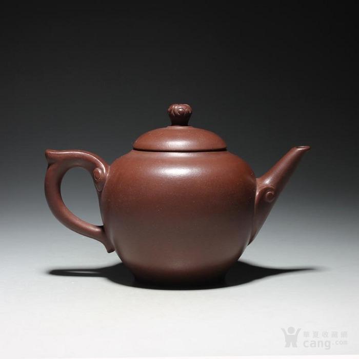 宜兴紫砂壶 早期全手工老茶壶 台湾回流 吉祥如意套装图4