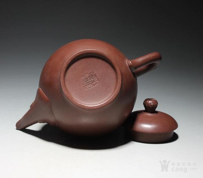 宜兴紫砂壶 早期全手工老茶壶 台湾回流 吉祥如意套装图6