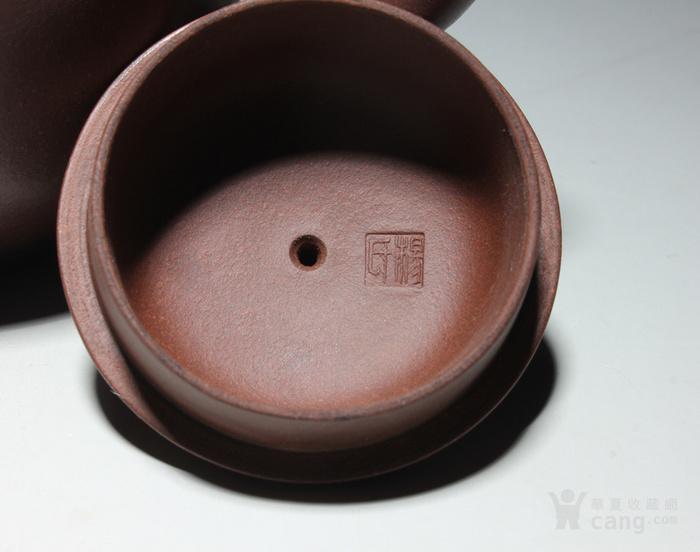 宜兴紫砂壶 早期全手工老茶壶 台湾回流 吉祥如意套装图5