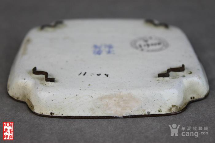 清乾隆铜胎画珐琅绘人物文玩盘 醉墨轩图7