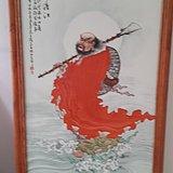 王琦。瓷板一苇渡江