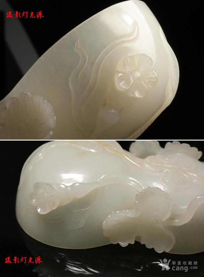 回流 大拍级 清中期高浮雕 和田白玉 福禄万代 葫芦型水丞图4